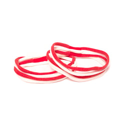 Mia® Stringbean Hair Ties - red and white - out of packaging - desgined by #MiaKaminski of Mia Beauty