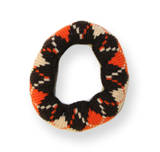Mia® Thick Wool Ponytailer - brown, orange, beige - designed by #MiaKaminski #MiaBeauty #Mia #beauty #hair #ponytails #ponytailholders #argyleaccessories