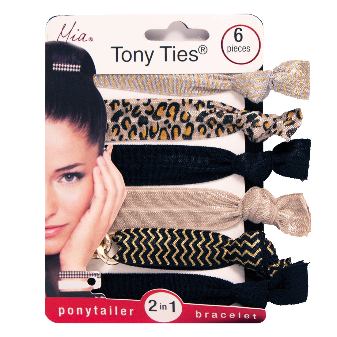 Tony Ties® Prints - Beige, Leopard, Black (6)