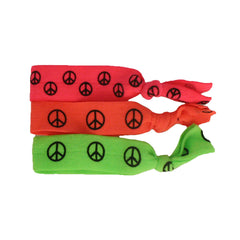 Tony Ties® Neon - Pink, Orange, Green Peace Sign - MIA® Beauty