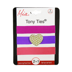Tony Ties® Charms - Hot Pink, Purple w/ Heart, Light Pink - MIA® Beauty