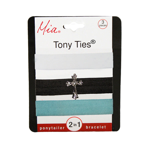 Tony Ties® Charms - White, Charcoal w/ Cross, Light Blue