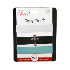 Tony Ties® Charms - White, Charcoal w/ Cross, Light Blue - MIA® Beauty