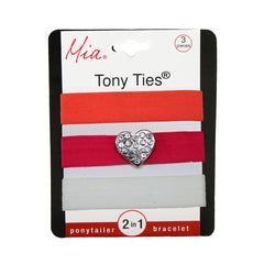 Tony Ties® Charms - Neon Orange, Hot Pink w/ Heart, White - MIA® Beauty