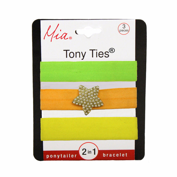 Tony Ties® Charms - Neon Green, Orange w/ Gold Star, Yellow