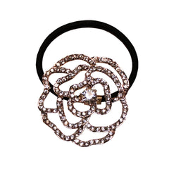 Mia® Camelia Ponytailer - Rose Gold with clear rhinestones - designed by #MiaKaminski at Mia Beauty