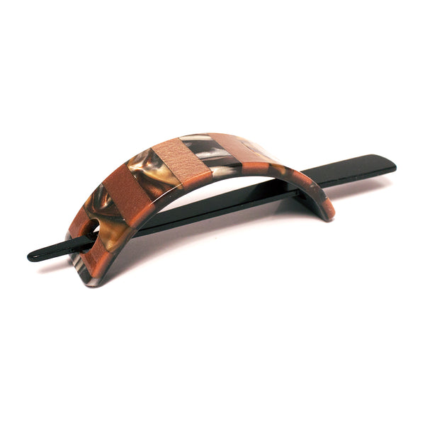 Stick Clip - Tortoise Mixed Stripe