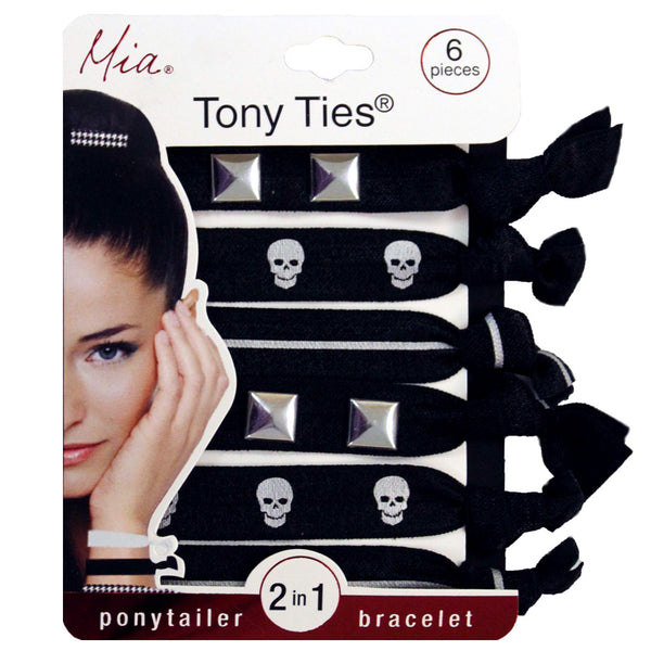 Tony Ties® Studs + Skulls - Silver, Gold + Black