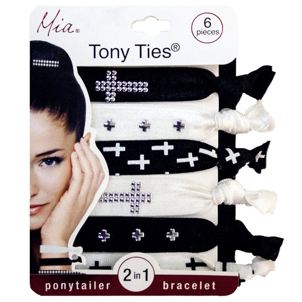 Tony Ties® Studded Crosses - Gold + Silver