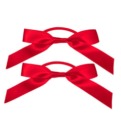 Mia® Spirit Satin Ribbon Bow Ponytailer Set - hair accessories - red color - designed by #MiaKaminski of Mia Beauty