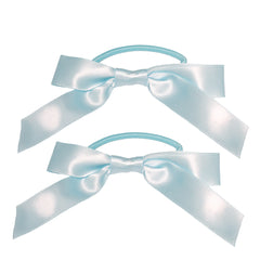 Mia® Spirit Bow Ponytailers - light blue color - designed by #MiaKaminski of Mia Beauty