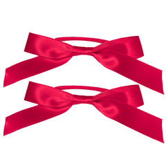 Mia® Spirit Satin Ribbon Bow Ponytailer Set - hair accessories - maroon red color - designed by #MiaKaminski of Mia Beauty