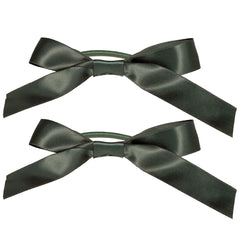 Mia® Spirit Satin Ribbon Bow Ponytailer Set - hair accessories - dark green color - designed by #MiaKaminski of Mia Beauty