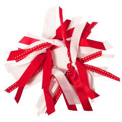 Mia® Spirit Ribbon Cluster Ponytailer - red and white - by #MiaKaminski of Mia Beauty
