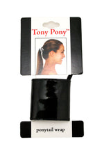 Mia®Tony Pony® - Patent leather ponytail cuff - black - on packaging - designed by #MiaKaminski CEO of Mia® Beauty