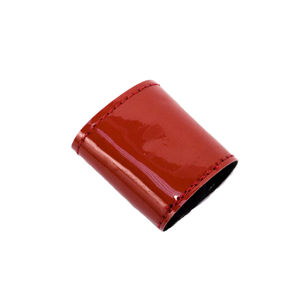 TMia® Tony Pony - patent leather ponytail cuff - red - designed by #MiaKaminski of Mia Beauty