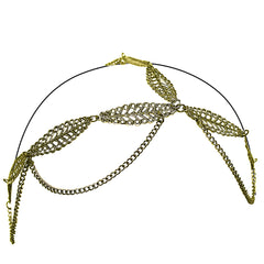 Three Chain Headwraps - Metal Leaves - MIA® Beauty - 2