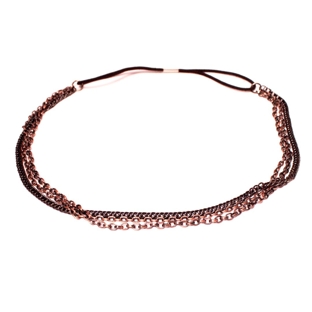 Mia® Triple Chain Headband Necklace – Bronze Color – designed by #MiaKaminski of #MiaBeauty #Mia #Beauty #HairAccessories #headbands #chainheadbands #lovethis #bohemian #hippie