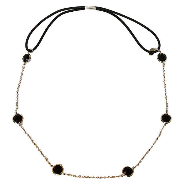 Metal Chain Headwraps - Black Stones