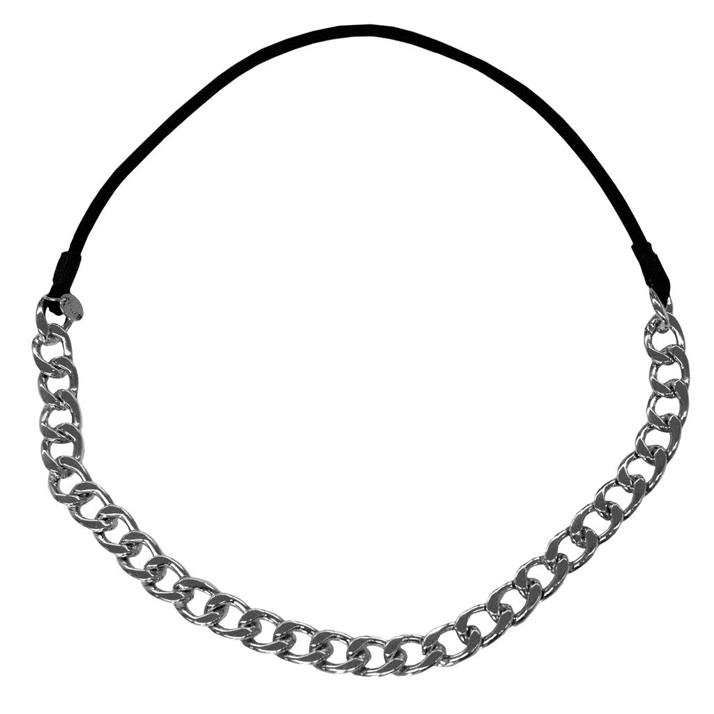 Mia Beauty Metal Chain Headwrap//Headband-Silver Chain New!!