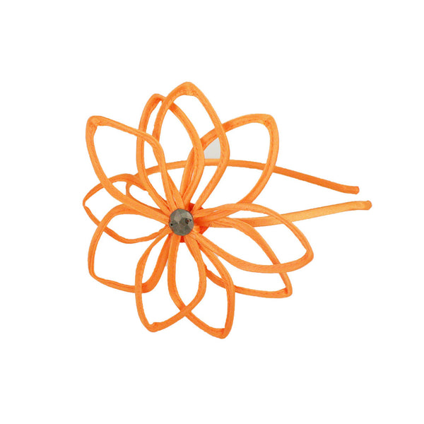 Bend-a-Roo™ Flower Headband - Neon Orange