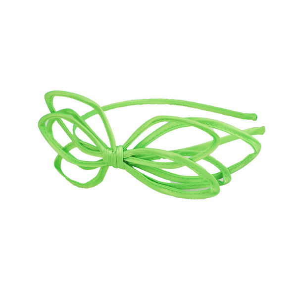 Bend-a-Roo™ Bow Headband- Neon Green