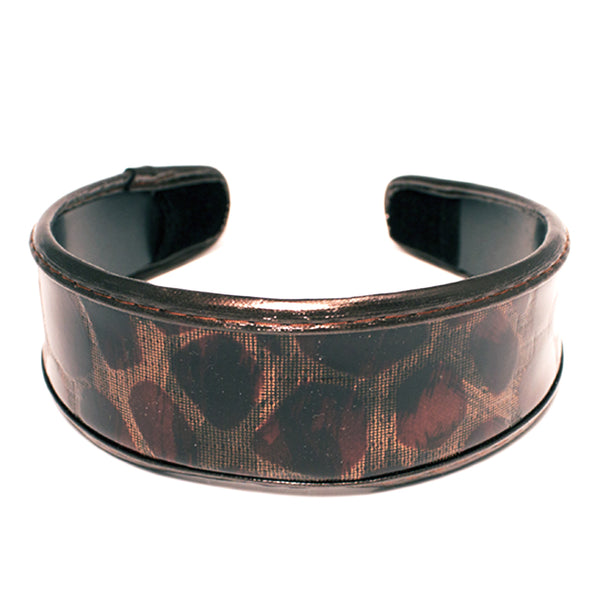Leopard Print Headband-Brown