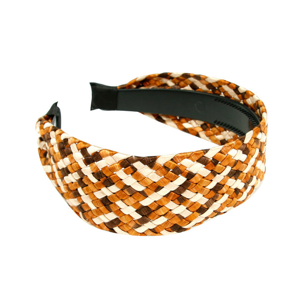 Bronze Basket Weave Headband