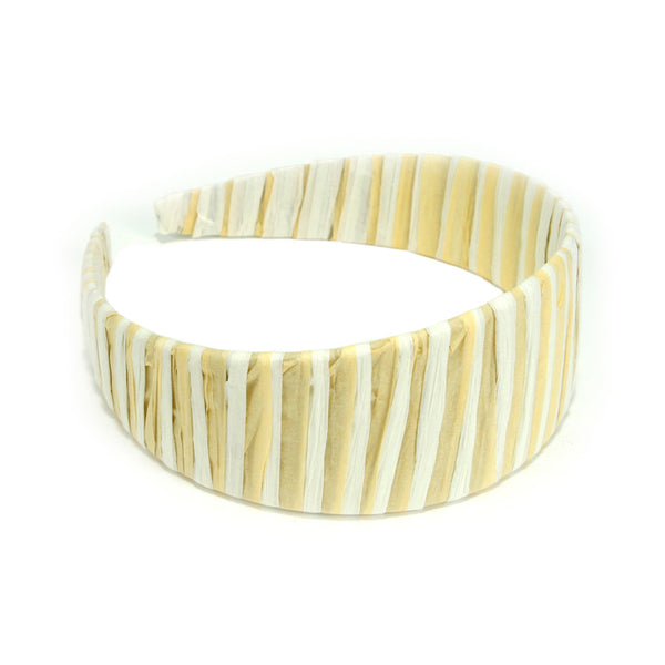 Cream & Natural Raffia Wide Headband