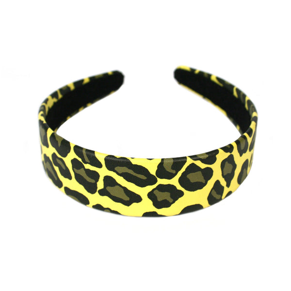 Leopard Print Headband-Yellow