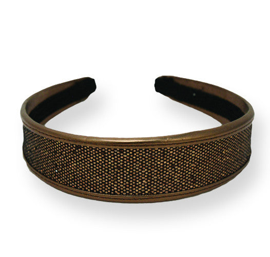 Metallic Headband-Bronze