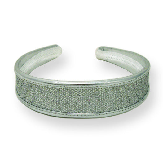 Metallic Headband-Silver