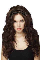 Mia® Black Leather Triple Strap Headband - on model - #MiaKaminski #Mia #MiaBeauty #Beauty #Hair #HairAccessories #headbands #headwraps #lovethis #love #life #woman  #gold #metallic