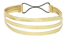 Mia® Gold Metallic Leather Triple Strap Headband - #MiaKaminski #Mia #MiaBeauty #Beauty #Hair #HairAccessories #headbands #headwraps #lovethis #love #life #woman  #gold #metallic