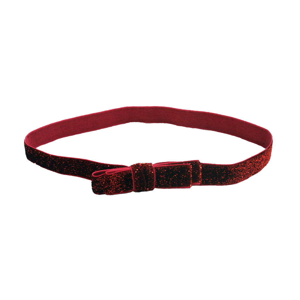 Tony Bands® - Glitter Headband Red with Bow - Mia Beauty