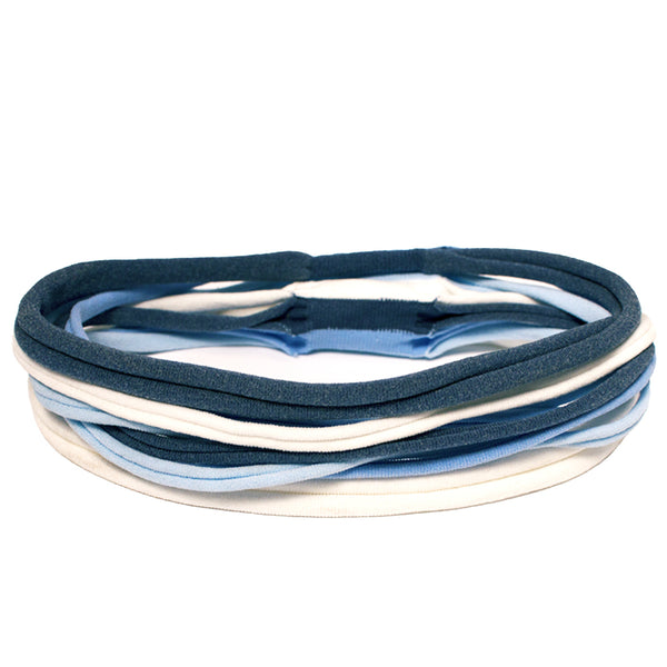 Stringbean Headband - Blue + White