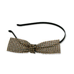 Bronze Rhinestone Bow Headband - Mia Beauty