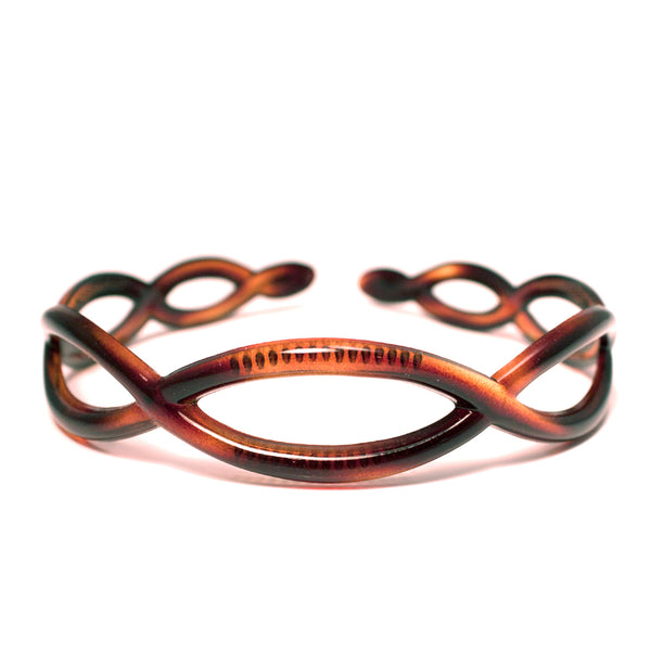 Acrylic Headband with Loops - Tortoise