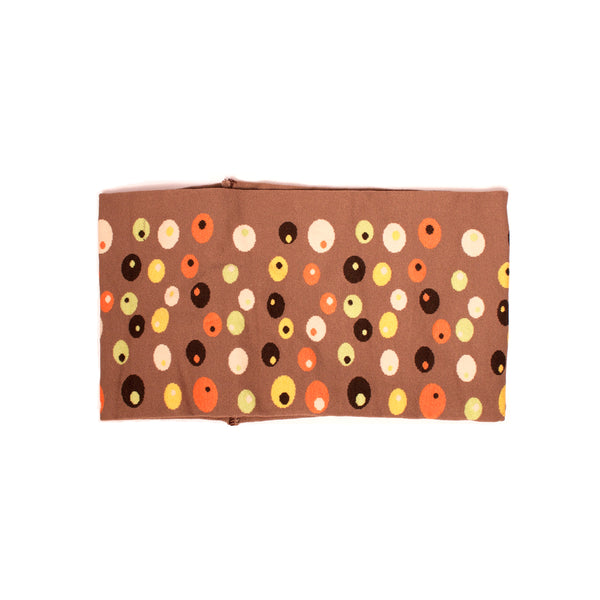 Cloth Headband - Brown & Colored Dots