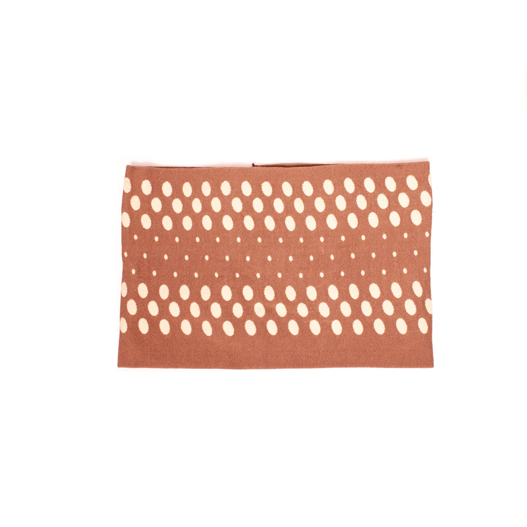 Cloth Headband - Taupe + Beige Dots