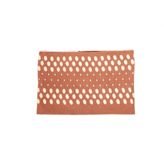 Cloth Headband - Brown with Colored Dots