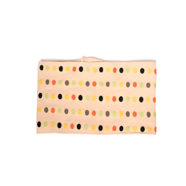 Cloth Headband - Beige + Random Colored Dots
