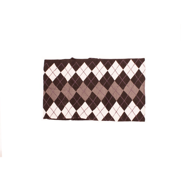 Cloth Headband Argyle - Black