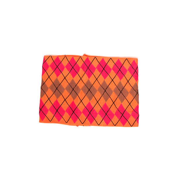 Cloth Headband Argyle - Orange
