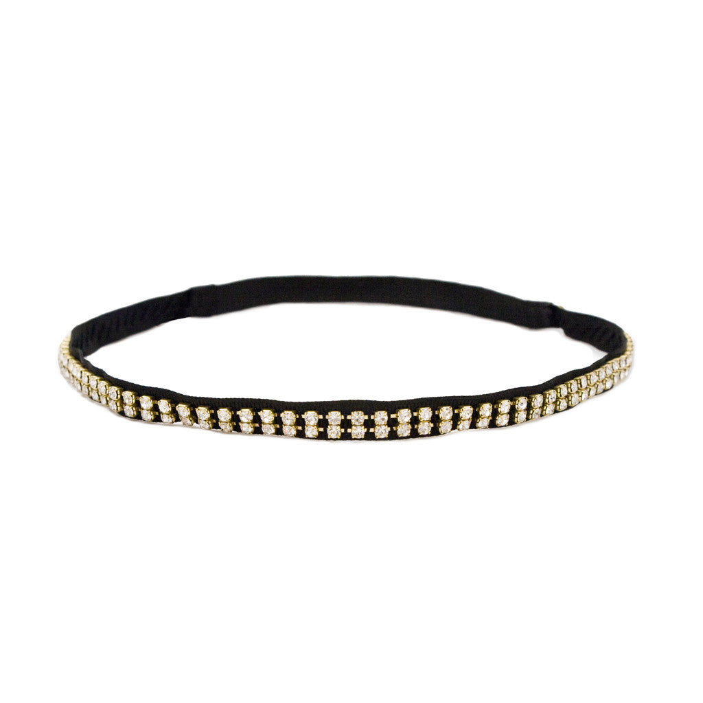 Gold Studded Rhinestone Headband - Mia Beauty