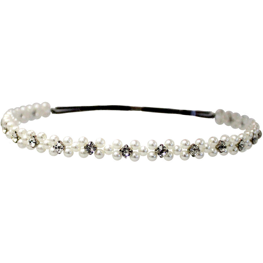 Embellished Headband - White Pearl - Mia Beauty