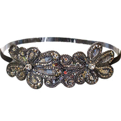 Mia® Embellished Headband - gunmetal sequins  - designed by #MiaKaminski of #Mia Beauty