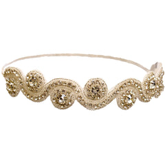 Embellished Headband - Rhinestone Swirl - Mia Beauty
