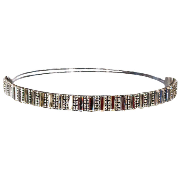 Embellished Headband - Clear Rhinestones