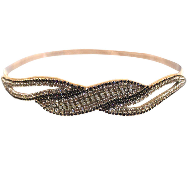 Embellished Headband - Wave Cutout